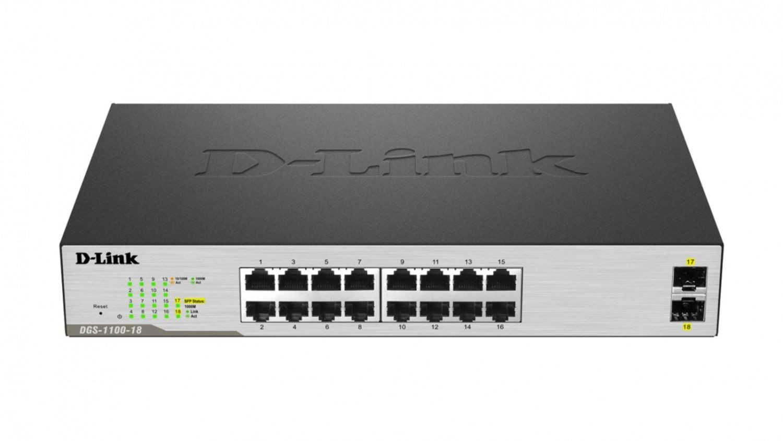 D-Link Switch DGS-1100-18 (16x 10/100/1000Mbps)