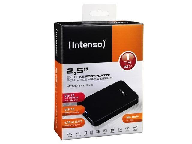 Intenso External HDD INTENSO 6023560 1TB USB 3.0 Colour Black 6023560