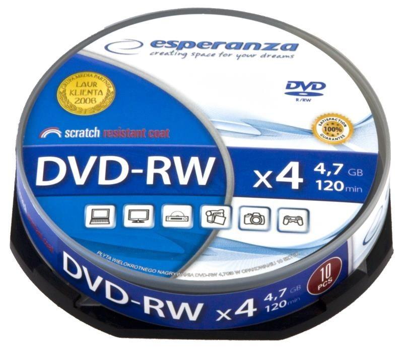 Esperanza DVD-RW 4x 4,7GB (Cake 10)