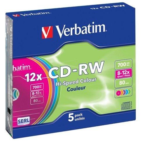 Verbatim CD-RW 8-12x 700MB 5P SL 43167