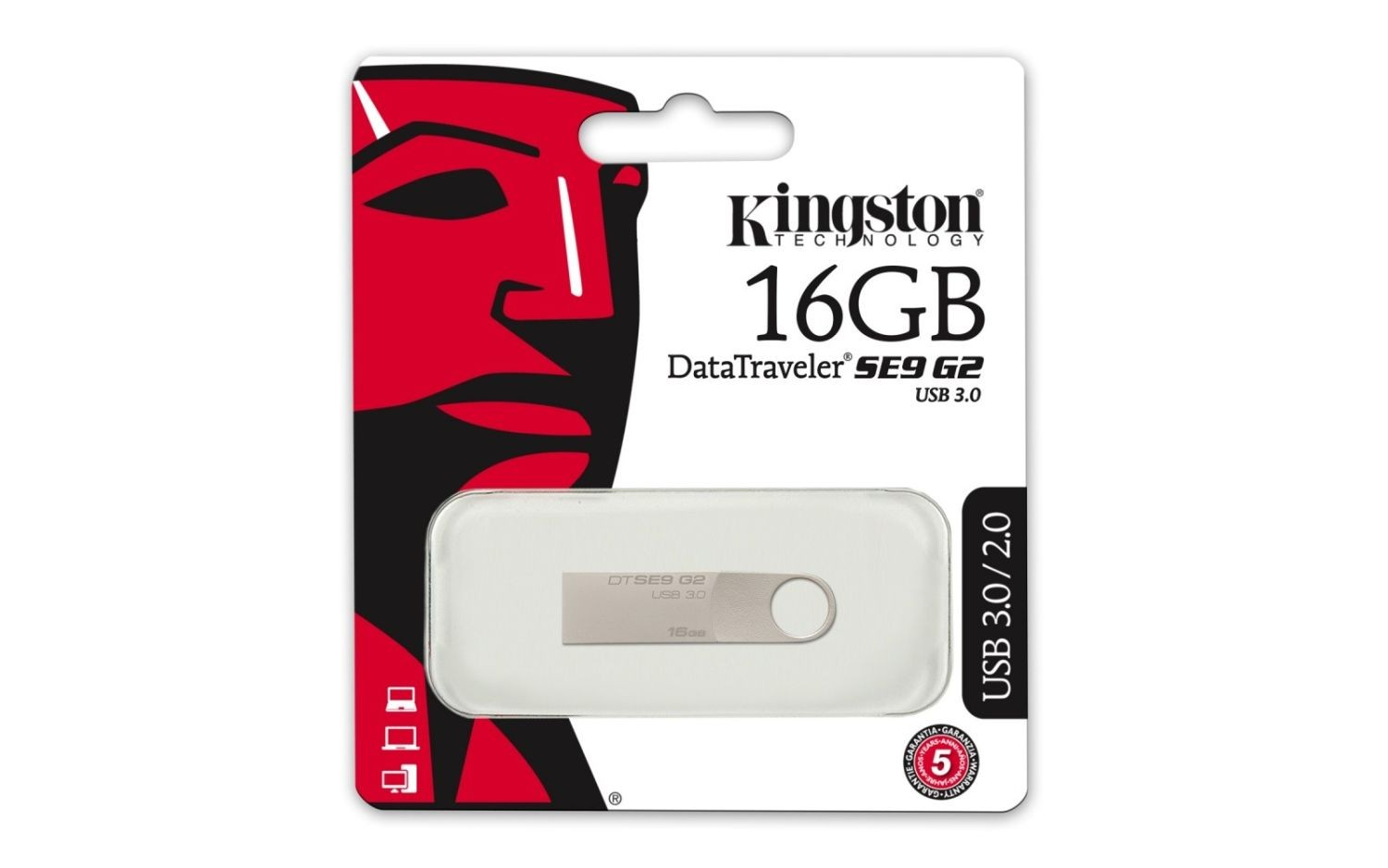 Kingston pamięć USB 16GB USB 3.0 DataTraveler SE9 G2 (Metal casing)