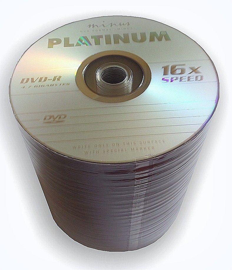 Platinum DVD-R PLATINUM 4,7GB 16x SZPINDEL 100 SZT