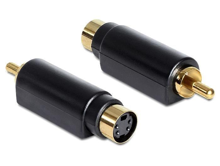 DeLOCK Adapter S-Video mini DIN (F) 4 polowy > 1 x RCA (M)