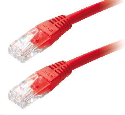 LYNX Patch kabel Cat5E, UTP - 1m , czerwony