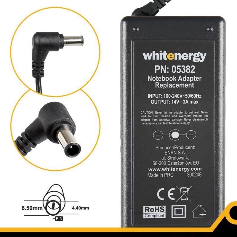 Whitenergy Ładowarka do laptopa 14V 3A 40W 6.5x4.4 mm + pin