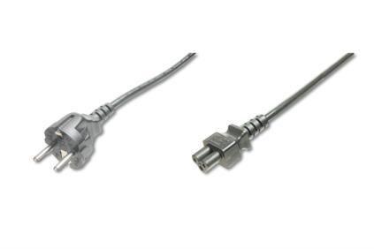 Assmann Kabel połączeniowy zasilający Typ Schuko prosty/IEC C5, M/Ż czarny 1,8m
