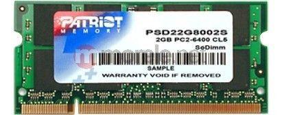 Patriot PSD22G8002S 2GB 800MHz DDR2 Non-ECC CL6 SODIMM
