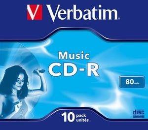 Verbatim CD-R Audio 80min 10P JC 43365