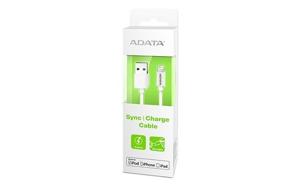 A-Data ADATA AMFIPL-100CM-CWH ADATA Kabel Sync and Charge Lightning, USB, MFi (iPhone, iPad, iPod), Biały
