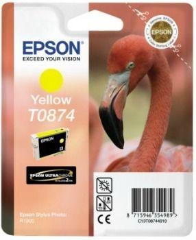 Epson C13T08744010 Tusz T0874 yellow Retail Pack BLISTER Stylus photo R1900