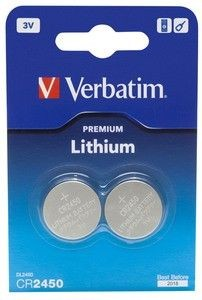 Verbatim Lithium Battery CR2450 3V 2 Pack