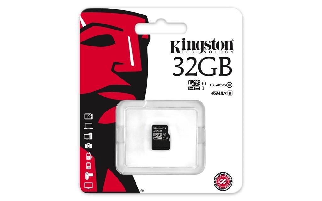 Kingston Karta pamięci microSDHC 32 GB