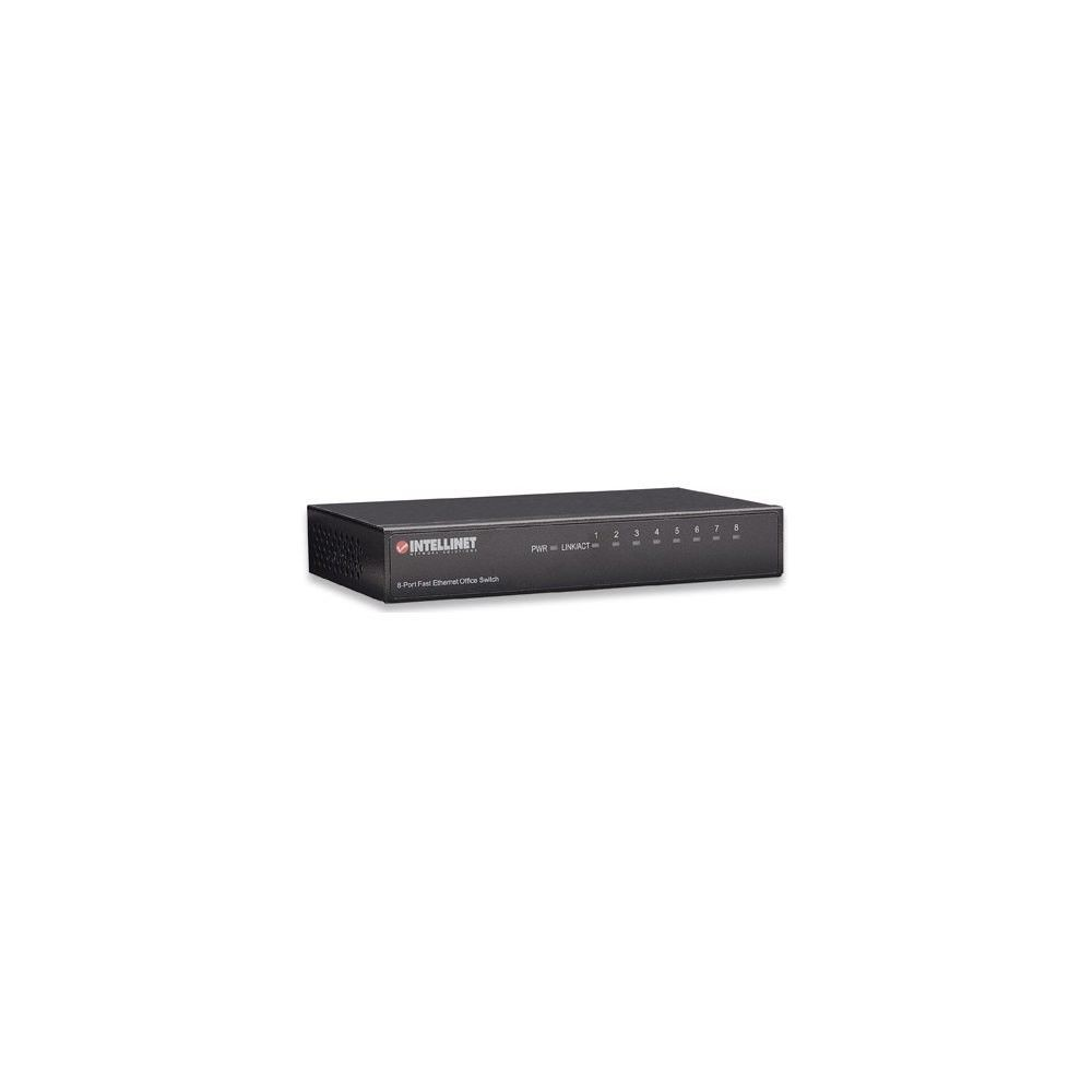 Intellinet Network Solutions Fast Ethernet switch 8x 10/100 Mbps RJ45 metal desktop