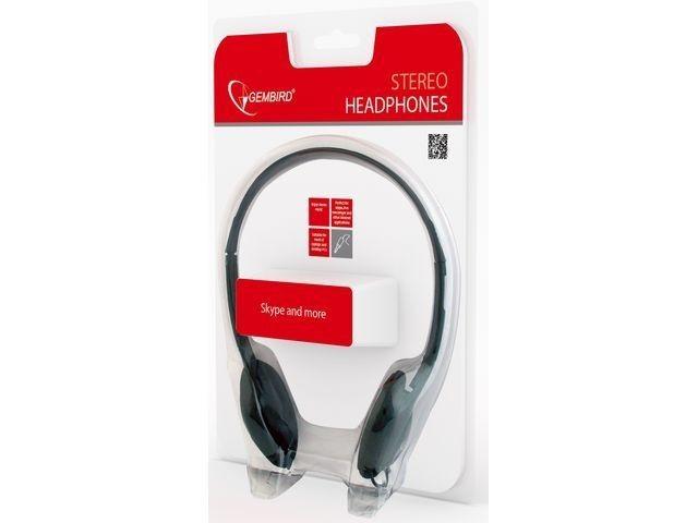 Gembird Audio słuchawki stereofoniczne MHP-123, czarne