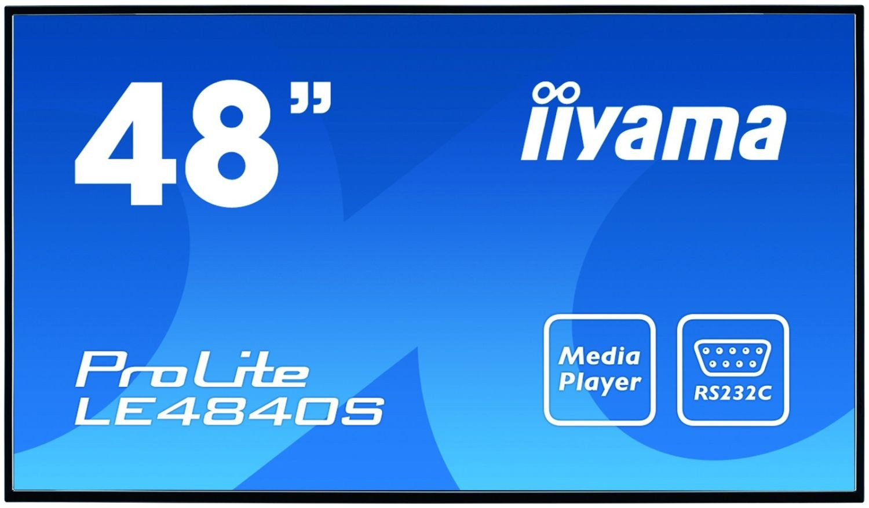 iiyama 48'' LE4840S-B1 SVA DVI/HDMI/USB Player/2x10W