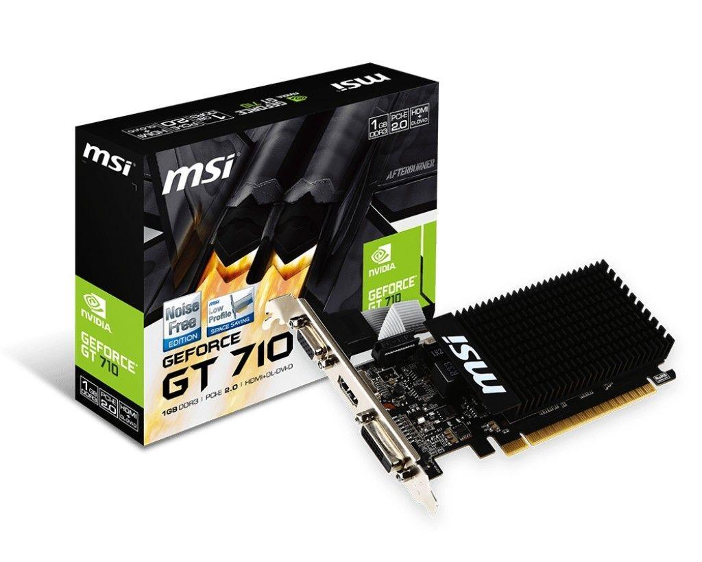 MSI GeForce GT 710 1GB DDR3 64BIT DVI/D-SUB/HDMI