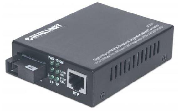 Intellinet Network Solutions Media Konwerter 100/1000Base-T RJ45/1000Base-SX SM SC WDM