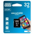 GoodRam Karta Pamięci Micro SDHC 32GB Class 4 + Adapter