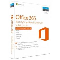 Microsoft Oprogramowanie Office 365 Home 32-bit/x64 PL 1 rok Medialess