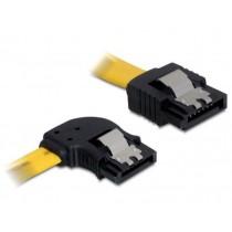 DeLOCK Kabel SATA II 3Gb/s 50cm kątowy lewo/prosto (metalowe zatrzaski) żółty