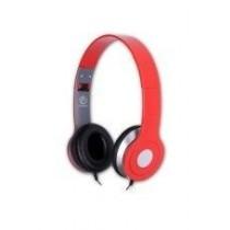 rebeltec Stereofoniczne słuchawki z mikrofonem CITY RED