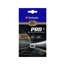 Verbatim Flash card microSD 32GB Pro+ Class10 SDXC UHS-1
