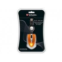 Verbatim Mysz Travel pomarańczowa USB