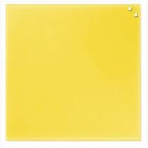 NAGA 10740 Szklana tablica magnetyczna żółta 45x45