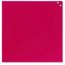 NAGA Szklana tablica magnetyczna różowa 45x45
