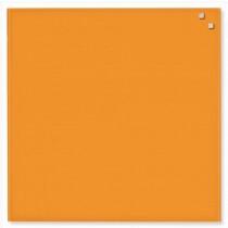 NAGA Szklana tablica magnetyczna pomarańczowa 45x45