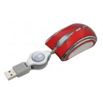 Esperanza EM109R CELANEO - Przewodowa Mysz Optyczna USB| 800 DPI |NEON|Czerwona