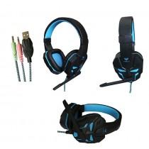 Acme Słuchawki z mikrofonem Aula Prime Gaming czarno-niebieskie