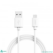 AUKEY CB-D9 White szybki kabel Quick Charge micro USB-USB | 2m | 5A | 480 Mbps