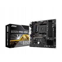 MSI B350M PRO-VDH B350M PRO-VDH, AM4, DDR4-3200, 4xSATA3, 4xUSB3.1, DVI/HDMI/VGA