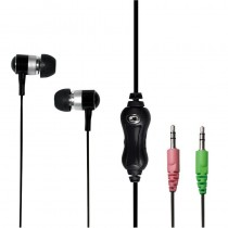 LogiLink Earphone Stereo In-Ear HS0018A 2 x 3.5 mm jack, Black, Built-in microphone