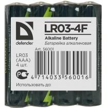 Defender Baterie alkaliczne LR03-4F in film AAA - 4 szt folia