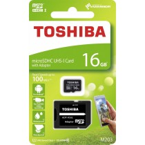 Toshiba microSD 16GB M203 UHS-I U1 adapter