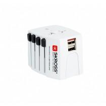 Skross Adapter podróżny MUV 2xUSB, biały