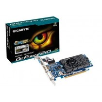 Gigabyte GeForce CUDA GT 210, 1GB DDR3 (64 Bit), HDMI, DVI, D-SUB, LP, BOX
