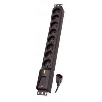Lestar LZRM 810 BW G-A K.:CZ 5,0M IEC32 listwa zasilająca LZRM 810 BW IEC 320, PDU, 5m