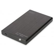 Digitus Obudowa zewnętrzna USB 2.0 na dysk SSD/HDD 2.5' SATA II, 9.5/7.5mm, aluminiowa