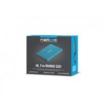 NATEC obudowa RHINO GO USB 3.0 na dysk 2,5'' SATA, niebieska, Aluminium