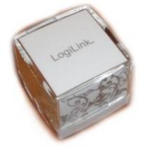 LogiLink HUB świecący USB Cube 4-portowy USB 2.0 biały