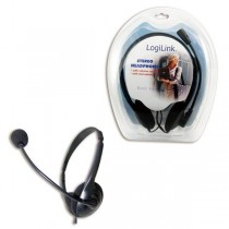 LogiLink Słuchawki z mikrofonem Czarny HS0001