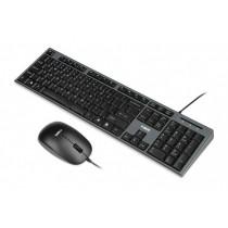 I-BOX Zestaw klawiatura + mysz IKMS606 (USB 2.0, (US), czarna, optyczna, 800 DPI)