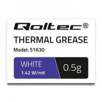 Qoltec 51630 Pasta termoprzewodząca 1.42 W/m-K 0.5g Biała
