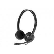 NATEC Słuchawki Canary z mikrofonem czarne