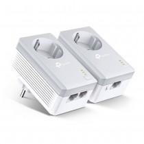 TP-Link TL-PA4022P Kit, AV600 Passthrough, 600Mbps Powerline Twin Pack