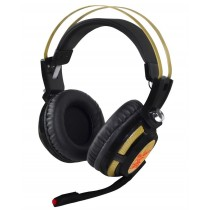 X-ZERO Słuchawki z mikrofonem X-H359KG Gaming wibracje super bass czarno-złote