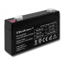 Qoltec Akumulator AGM | 6V | 1.3Ah | max.0.39A